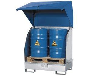 Gefahrstoffdepot zur Lagerung von Fässern